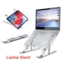 Soporte de aluminio portátil Soporte de 17 pulgadas Tablet PC con tableta de 15 a 45 grados Mini soportes flexibles ajustables