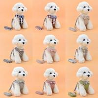 الكلب تسخير القطاع مقايات الحيوانات الأليفة سترة الكلب المقاود pet bowknot الصدر حزام الحيوانات الأليفة اللوازم 9 نمط xd24553