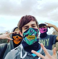 Multicolor ski Skull Face Mask Festival Party Halloween costumes Skeleton Magic Scarf Bicycle Cycling Dustproof Hunting Airsoft Masks Ghost Multi Use Neck Gaiter