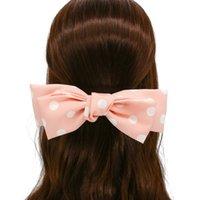 Koreanische Version Süße einfache Welle Punkt Doppelschicht Großer Schmetterling Tuch Net Rot Mädchen Frühling Top Clip Haarnadel