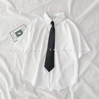 Neck Ties Women JK Uniform Necktie Shirts Accessories Trendy All-match Student Round Shirt Collar Arrow Shape Tie 2021