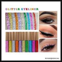 Eback glitter liquido eyeliner portatile brillante trucco liquido occhio fodera matita a lunga durata rapida bellezza secco bellezza cosmetico lucido eyeliner