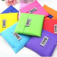 에코 친화적 인 저장 핸드백 접이식 사용 가능한 쇼핑 가방 폴리 에스터 재사용 가능한 휴대용 식료품 나일론 대형 가방 순수한 색상 LLA7426