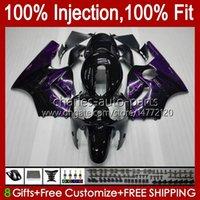 OEM Injection mold Bodywork For KAWASAKI NINJA ZX1200 C ZX1200C ZX 12 R 1200 CC 2000 2001 Body 2No.106 ZX 1200 12R 1200CC ZX-12R 00-01 ZX12R 00 01 Fairing Kit purple flames