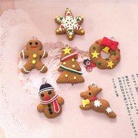 Christmas Decorations 6 11 Pcs Mini Gingerbread Man Ornaments Deer Snowman Chrismas Tree Pendant Decoration Year Decor Party Supplies