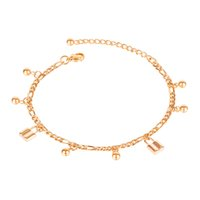 anklets for women round bead titanium stainless steel rose golden foot chain classic jewelry lovers girls birthday gifts GZ121