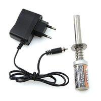 HXLMOTO Engine Starter Kit Аккумуляторная свеча накаливания воспламенитель зажигания SC1800MAH зарядное устройство AC EU Plug для RC Cars Nitro Truck AI для HSP 80101