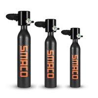 Equipo de buceo SMACO Mini cilindro de buceo Cilindro Scuba Tanque de oxígeno para snorkeling Accesorios de respiración submarina