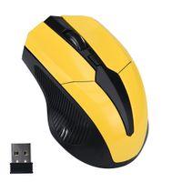 2.4G mouse sem fio portátil portátil 4 botões 2000 dpi ratos ergonômicos para computador suporte de desktop para computador portátil para imprimir logotipo por atacado