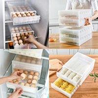 Storage Bottles & Jars Drawer Egg Rack Large Capacity Fresh Box Household Refrigerator Fruit Vegetable Container Holder Kitchen Tools