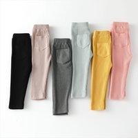 Bébé Girls Boys Leggings Cotton Big Pan Pantalons Spring Automne Enfants Fille Fille Haute Taille Pantalon Long Pantalons pour enfants