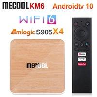 MeCool KM6 ATV Amlogic S905x4 TV Box Android 10 4GB 64GB WIFI 6 BT5.0 دعم Google معتمد AV1 USB3.0 1000M