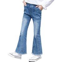 Mädchen Flare Jeans Denim Boot Cut Pants Hose Solide Kinder Teenager Frühling Herbst Kinder für Mädchen 4 6 9 12 14 Jahre 210811
