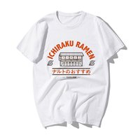 Смешные наруто японские аниме футболки мода наруто Узумаки Ичираку Рамена печать футболки мужские летние хлопковые хип-хоп футболки 210301