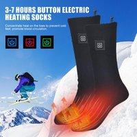 Winter elektrische beheizte Socken 3,7 V 2200mAh wiederaufladbare Thermische Socken 3 Levelheizung Atmungsaktives und schnell trocknendes Radfahren