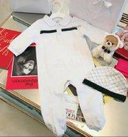 2021 Infantil 2 PCS Conjunto Sombrero Sombrero Jumpsuit Niños Ropa Niñas Niños Ropa Recién Nacido Bebé Hambres Niños