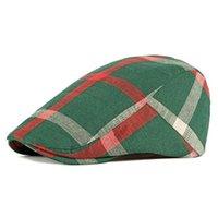 Berretti 2021 Alzata di qualità Primavera ed estate Traspirante Signore sottili Berret Cappello British Style Classic Plaid Cap Attraversare in avanti