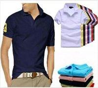 New Brand Fashion Fashion Luxury Ricamo Big Small Horse Crocodile T-shirt per uomo Moda Polo Shirt da uomo Polo Polo S-3XL