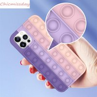 fidget Case Decompression Silicone Phone Cases For iPhone 12 11 Pro Xs Max Xr 7 8 Plus Huawei Mate30 Mate40 P40