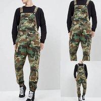 Neue Mode Männer Camouflage Denim Herren Overalls Designer Hohe Qualität Gedruckte Jeans Jumpsuits Mode Slim Männliche lange Hose