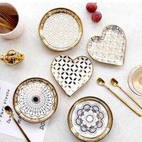 صغير السيراميك أدوات المائدة المنزل الطعام طبق المعكرونة الأطباق الحلوى لوحات صور الدعائم
