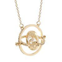 Pellicola Placcato oro Harry Jewelry Potter Time Turner clessidra Collana