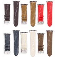 Top Designer Bandes de luxe Cadeau Gandes de montre pour la bande de montre Apple 42mm 38mm 40mm 44mm IWatch 1 2 3 4 5 6 7 Bandes Bracelet en cuir Bracelet Fashion Bracelet Imprimer Strips Watchband