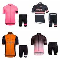 Rapha Team Hombres personalizados Hombres de manga corta Pantalones cortos Sports de secado rápido Jerseys Sets Ciclismo Sin mangas Jersey Chaleco Shorts Sets S82624