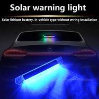 Solar LED emergency lights Warning lamp Prevent tailgating Installation-free
