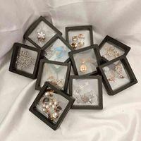 10 قطعة / الوحدة شفاف مجوهرات عرض مربع حالة حلقة قلادة سوار نظمت 3d العائمة مربع إطار تخزين مجموعة