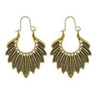 New Vintage Gold Silver Mujeres Pendientes de plumas Pendientes de aleación larga Pendientes de la joyería de la moda de la ropa