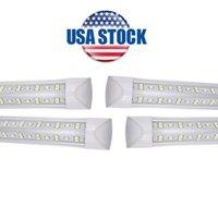 25 / Confezione Porta di raffreddamento integrata 8 ft LED Light T8 Tubi V Shape Colent Doors USA America LED Bulbs 4ft 5ft 6ft luci fluorescenti AC85-265V Azioni USA