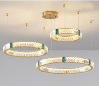 Modern Crystal Led Chandelier Lighting Living Room Decor Chandeliers Lamp Restaurant Hanging Lights Suspension Luminaire
