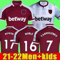 21 22 Batı Futbol Formaları Jambon 2021 2022 Birleşik Ev Uzakta Yarmolenko Lanzini Noble Bowen Antonio Futbol Gömlek Fornals Cresswell Erkek + Çocuk Seti Set Jersey Lingard