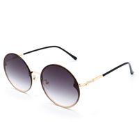 Redondo para hombre gafas de sol gafas metal gafas de sol damas UV400 degradado color mujer diseñador de ojos occhiali da suela retro eyegla 20237 sonnenbrille
