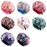 Adjustable Satin Ankara African Pattern Bonnet Cap Women Day Night Sleep Caps Double Layer Comfortable Headwear Hair Care Hats