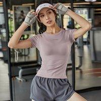 Egzersiz Üst Bayan Sıkı Hızlı Kuruyan Egzersiz Kısa Kollu T-Shirt Slim Fit Nefes Koşu Eğitim Yoga Giysi T-shirt Soccer Jersey
