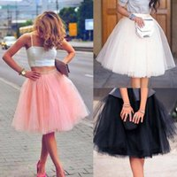Mulheres senhoras midi saias adulto tutu vestido de baile dançando casamento branco partido gota transporte de boa qualidade