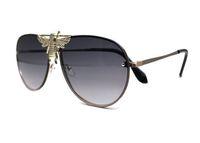 Itália luxo 2238 Óculos de sol homens mulheres designer popular moda estilo de verão com as abelhas alta qualidade uv proteção lente com caixa