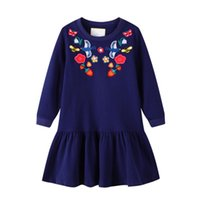 Spring Long Sleeve Floral Girls Dress Clothing Party Tutu Ba...