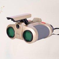 Teleskop Dürbün 4x30 Dürbün-Up Işık Gece Görüş Kapsam Yenilik Çocuk Çocuk Boy Çocuk Oyuncakları Hediyeler Pil Olmadan (Yeşil