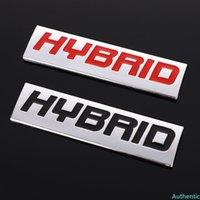 Autocollants de voitures en métal 3D Auto Hybrid Emblem Badge Décalques pour Hyundai Hybrid Subaru Honda Toyota Porsche Porsche Racing Lexus Chevrolet Kia