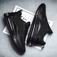Wannaixter Black Gold Mens Shoes Couple Full Length Air Sole Sports Runner Korean Style Versatile Casual Men Fashion sneaker