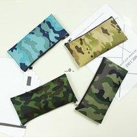 위장 연필 가방 간단한 휴대용 캔버스 화장품 가방 사무실 연구 편지지 저장실 케이스 19 * 9.5cm FWE5177
