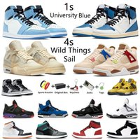Air Jordan Jumpman 1 Dark Marina University Blue 4s Sail Zapatillas de baloncesto para hombre 1s Hyper Royal Fragment 4 Wild Things White Oreo Hombre mujer deportivas Zapatillas