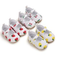 2021Summer Baby Girl Flip Flip Tops Toddler Strawberry, Cherry, Ananas Print Chaussures Sandales