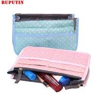 Sacs cosmétiques Ruputin Voyage Insert Sac Femmes Make Up Organiseur Kits de toilette Rangement Finition Double Zippe Couleur