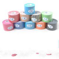 4 rotoli 5 cm x 5m Sport Kinesiologia Nastro in cotone cotone elastico adesivo Adesivo Muscolo Fasciatura Strisol Supporto calcio 101 x2