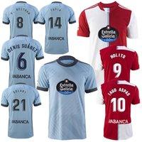 21 22 RC Celta de Vigo Futebol Jerseys 2021 2022 Lobotka Iago Aspas Santl Mina Away Camisa de Futebol Sisto Boufal Camiseta Futbol Homens Kit Kit Uniforme