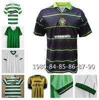 Classic Celtic # 7 Larsson 2000 2002 Ретро 85 86 06 08 91/92 Урожай футбольные рубашки прочь зеленый Гиллессы Каскарино Тайский Qualtiy